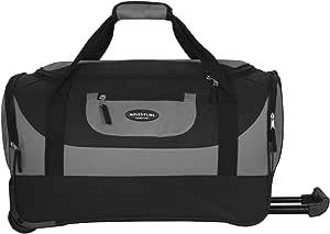 "Travelers Club Luggage Adventure 20"" Multi-Pocket Sports, Gray, 20 Inch 46.2L"