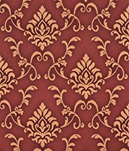 designer 70cm vinyl wallpaper regency romance gold