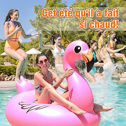 Bouée Gonflable Géante Flamant Rose  Piscine Jouets Adultes Enfants