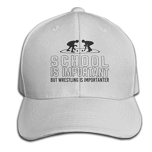 c14f3ca0c69d78 Men/Women School is Important But Wrestling is Importanter Outdoor Duck  Tongue Hats Adjustable Cotton Baseball Cap at Amazon Men's Clothing store: