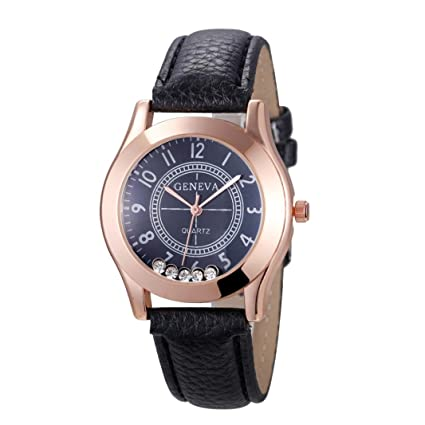 Relojes Pulsera Mujer, Xinan Reloj de Pulsera de Cuarzo Reloj (Negro)