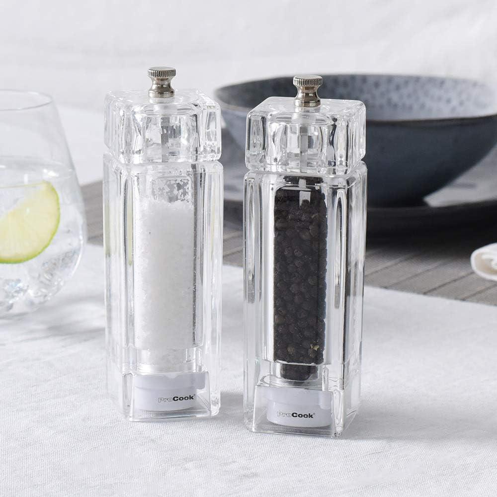 ProCook Acrylic Salt and Pepper Mill Set 2 Piece 14.5cm