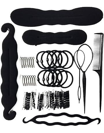 95071e9fd4258 Frcolor Kit de Peinado del Pelo Peluquería Magic Hair Clip Styling  Almohadillas Esponja Bun Bun Donut