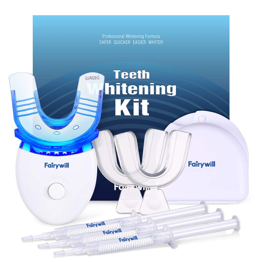 Fairywill Teeth Whitening Kit with Led Light for Sensitive Teeth