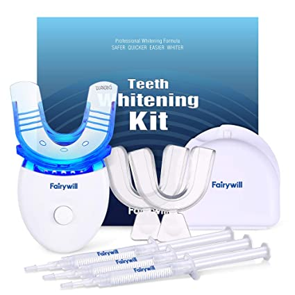 Amazon Com Fairywill Teeth Whitening Kit With Led Light For
