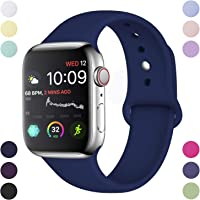 Hamile Correa Compatible con Apple Watch 38mm 42mm 40mm 44mm, Correa de Repuesto de Silicona Suave para Apple Watch Series 5/4/3/2/1, S/M, M/L