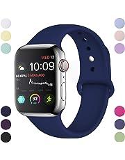 Hamile Armband Kompatibel für Apple Watch 38mm 42mm 40mm 44mm, Weiche Silikon Wasserdicht Ersatz Uhrenarmb?nder für Apple Watch Series 5, Series 4, Series 3, Series 2, Series 1 S/M, M/L, 20 Farben
