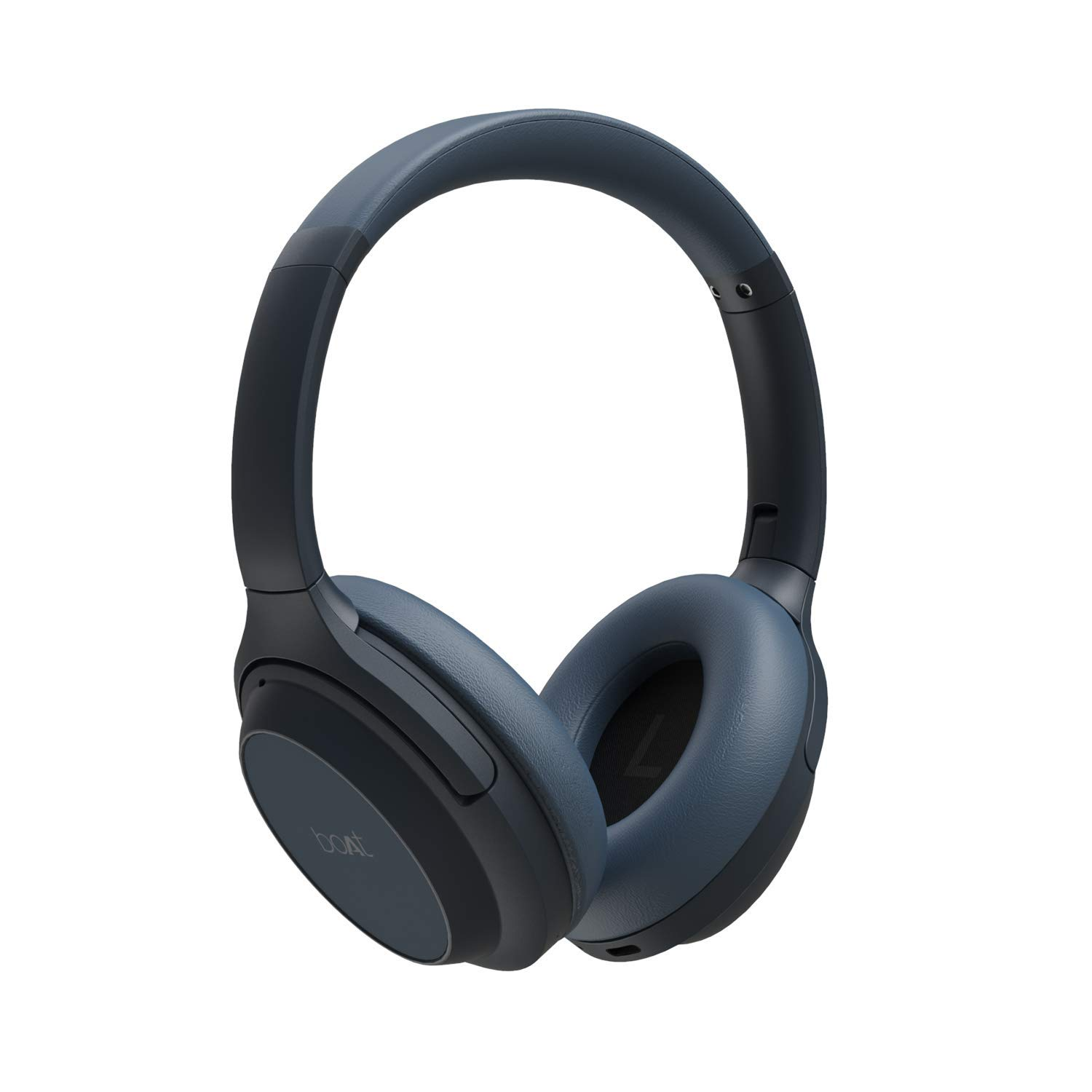 boAt NIRVANAA 1007ANC Active Noise Cancelling Headphones with SmartWave™ Technology, Up to 30H Playback,Ambient Sound Mode,Smart Mute,Type C Interface,Carry Case,One Click Battery Level(Midnight Blue)