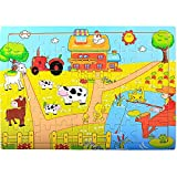 PigBangbang Deluxe Wooden 60 Piece Jigsaw Puzzle 8.85 X 11.8''Buy 1 Get 1 Free Anime Happy Farm