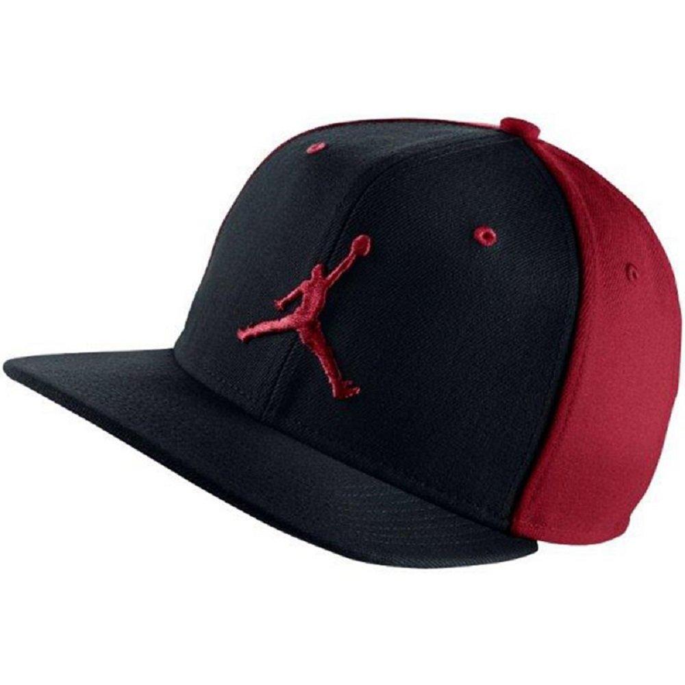 629e26e7c8c Galleon - NIKE Mens Air Jordan Jumpman Snapback Hat Black Gym Red 619360-010