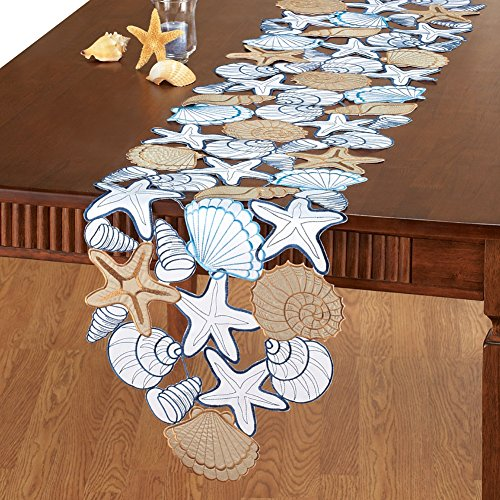 Seashell Table Linens Runner Polyester