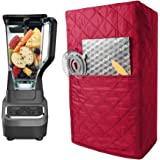 Quilted Blender Cover, Polyester Cotton Blender Appliance Cover, Kitchen & Dining Small Appliance Dust and Fingerprint…