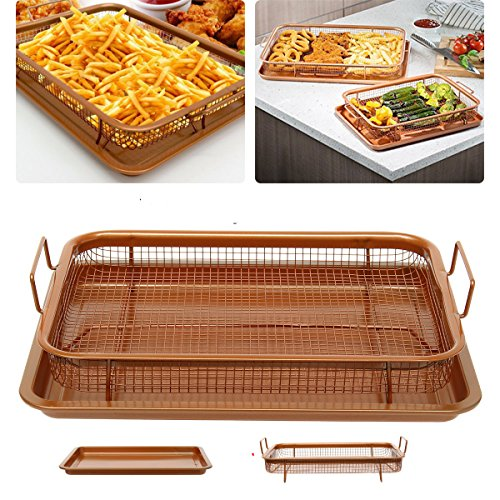 Stainless Steel BBQ Picnic Oven Grill Healthier Cook Bacon Drip Rack Tray with Pan \ Stuff Utilities Retro Items Set Materials Furniture Kitchenware Products Decorative Popular Newest