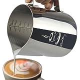 KimKing L'acciaio inossidabile latte- 20 oz (600ML) la schiuma di latte lanciatore misurino scale Espresso Cappuccino di Latte Caffè Latte Art Maker