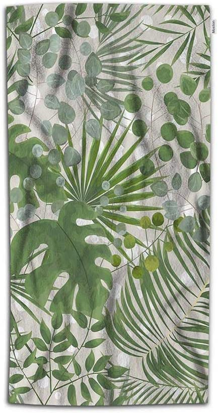 Moslion Palm Leaf Hand Towel Tropical Jungle Forest Botanical Herbs Tree Leaves Towel Soft Microfiber Face Hand Towel Kitchen Bathroom For Boys Girls Men 15x30 Inch Green Amazon Co Uk Kitchen Home