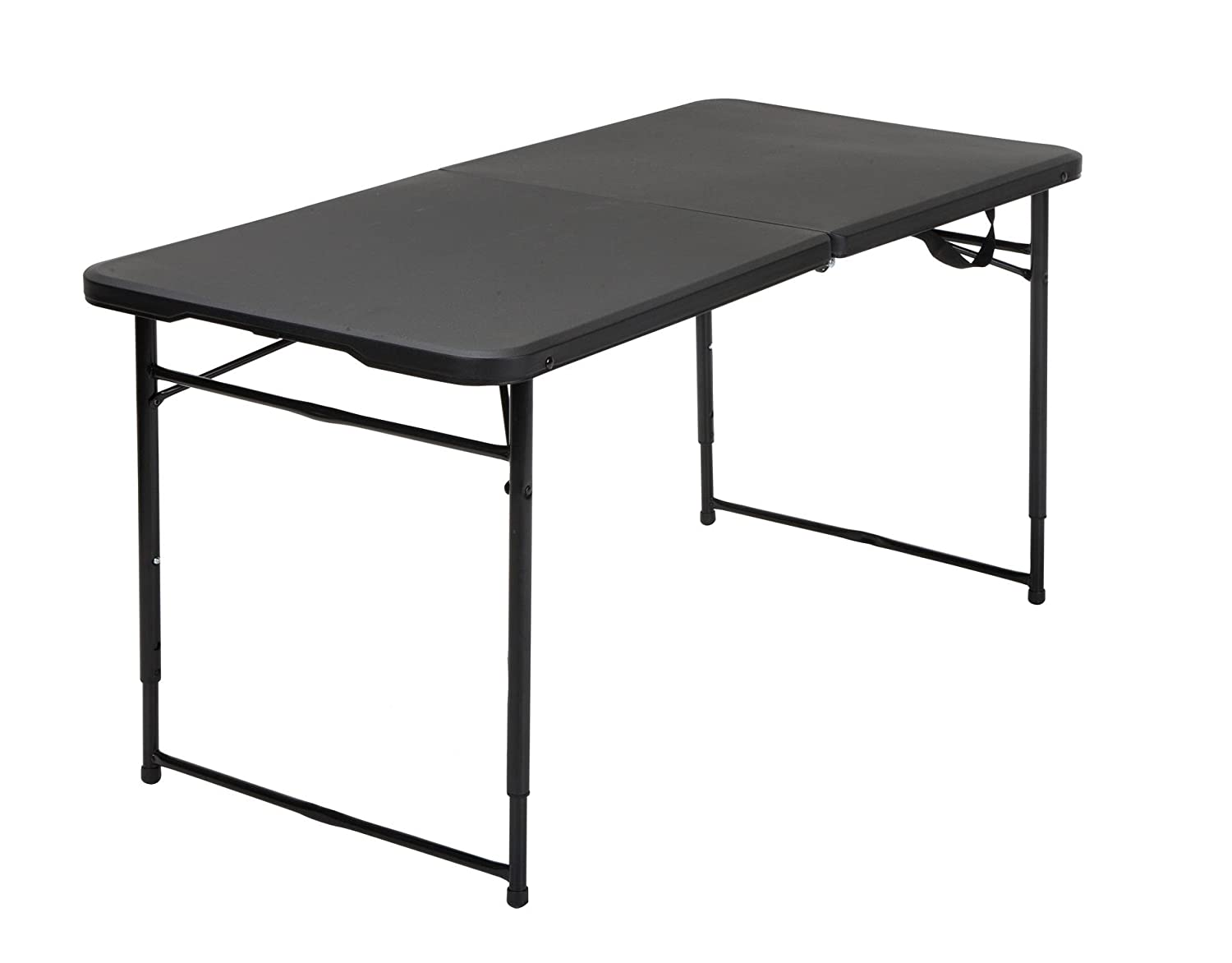 Amazon.com   Cosco 14402BLK1E Indoor Outdoor Adjustable Height Center Fold  Tailgate Table With Carrying Handle, 4u0027, Black   Table Benches