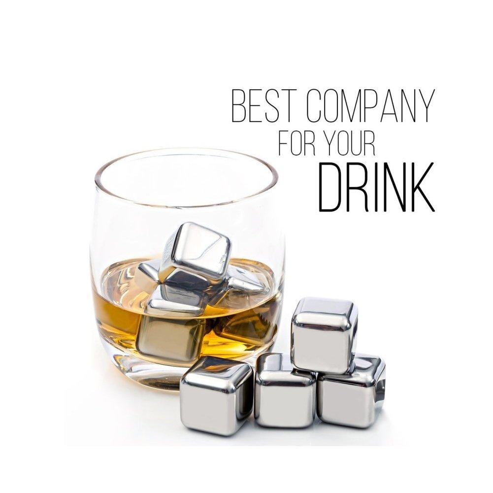 Compra Whisky Piedras 8 reutilizable de acero inoxidable ...
