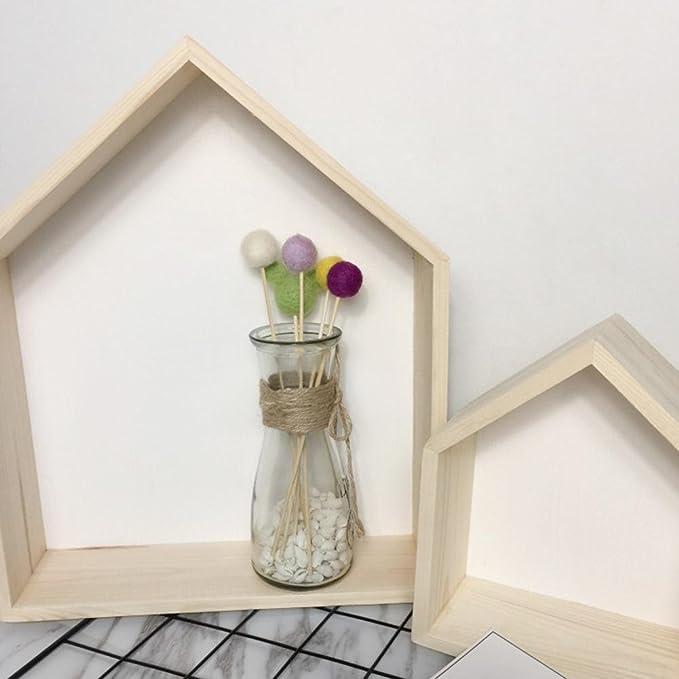 vert Rangement pour la chambre des enfants /Étag/ère de rangement /Étag/ère murale pour enfant en bois naturel D/écoration de chambre denfant Maison Silhouette