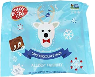 product image for Enjoy Life Dark Chocolate Mini Squares, 6.3 Ounce | 18 All-Natural, Non-GMO Individually Wrapped Bites in Holiday Bag