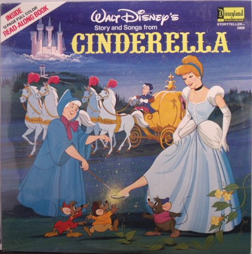 (Walt Disney's Story and Song Book From Cinderella 12' Lp Record and Book)
