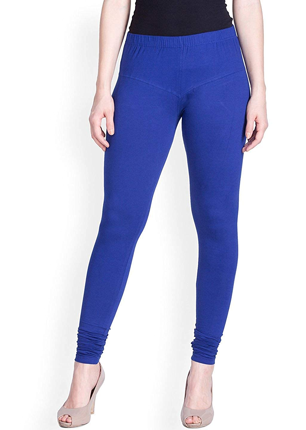 LYRA Women's Royal Blue Churidar Leggings