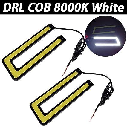 Juego de 2 luces LED de circulación diurna para coche TABEN COB ...