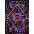 Popular Handicrafts Kp786 Psychedelic Celestial Sun Moon Planet Bohemian Tapestry Wall Hanging Dorm Decor Boho Tapestries Hippie Hippy Purple Tie Dye Tapestry Beach Coverlet 54 X84