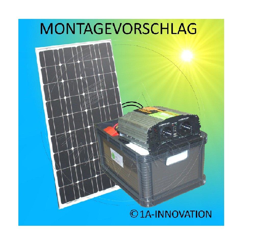 Erneuerbare Energie Solarenergie 1000w Solaranlage Komplettpaket 220v 4x Akku 280ah Solarpanel 2000w Watt 24v