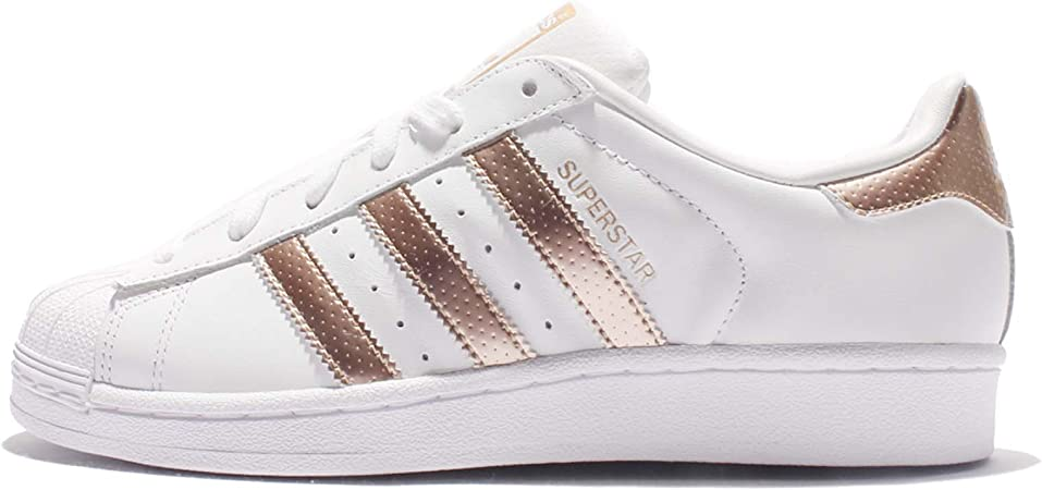 adidas Women's Superstar BB1428 Trainers, White/Gold, Size 7 ...