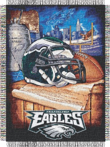The Northwest Company Philadelphia Eagles Woven Tapestry Throw (Woven Triple Layer Tapestry Throw)