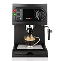 Mini Moka CM-1622 Black - Cafetera espresso, 15 bar, 1050 W, 1,25 l