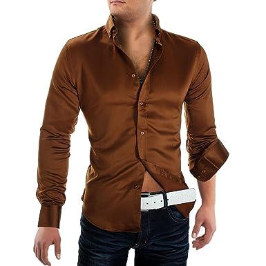 03388131ffc0 ArizonaShopping - Hemden Herren Hemd Satin Hi Society ID1065, Größe Hemd M,  Farben