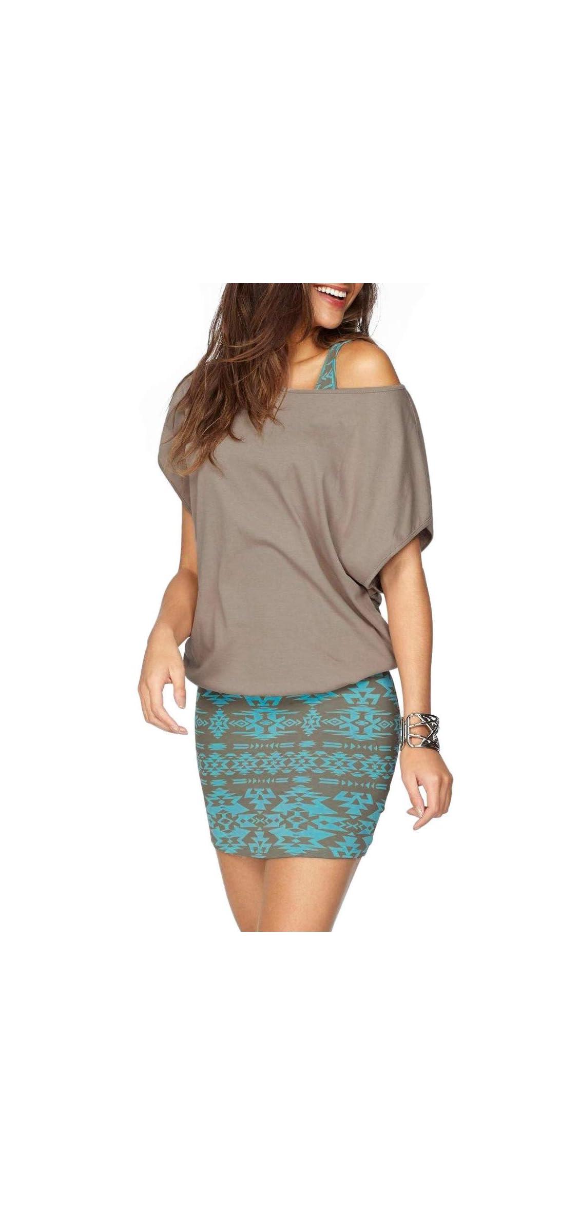 Women Summer Outfits  Piece Dresses Casual Loose Shirt