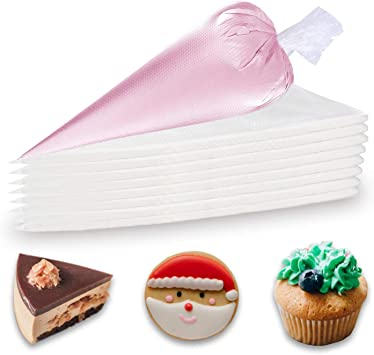 100PCS Disposable Piping Bags Thickened Plastics Pastry Icing Bag for Cake Decor