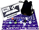 cloth gems - Cosmic Wimpout Deluxe Travel'n Game _ w/ PURPLE Cloth Scoreboard (Assorted Graphics) _ bonus 5 glass gemstone markers _ Bundle