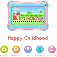 Kids Tablet 7 inch Android Tablet for Kids Edition Tablet PC Android Quad Core with WiFi Dual Camera IPS Safety Eye Protection Screen and Parents Control Mode Pink Pink Small