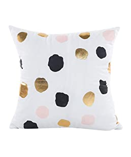 wintefei Throw Pillow Case Gold Foil Printing Cushion Cover Decorative Sofa Bed- 12#