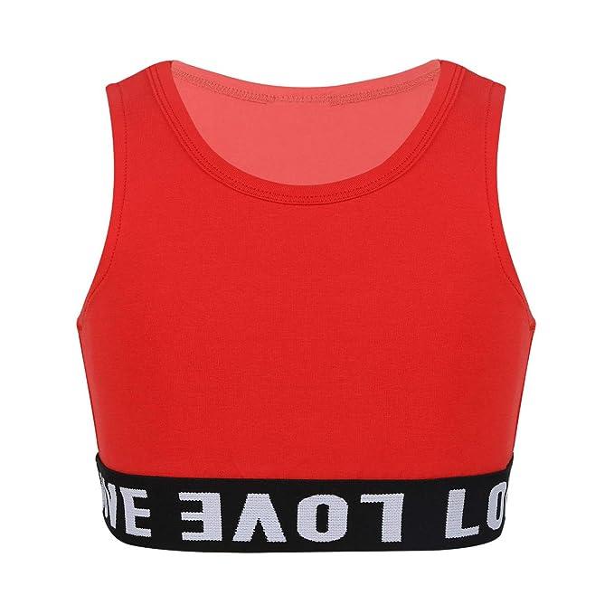 iiniim Kinder M/ädchen Sport BH Gepolstert Elastizit/ät Bustier Yoga BH ohne B/ügel Atmungsaktiv Sports Bra Top