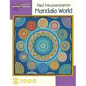 Paul Heussenstamm Mandala World 1000 Piece Jigsaw Puzzle Inglese Forniture Assortite 4 Gen 2016