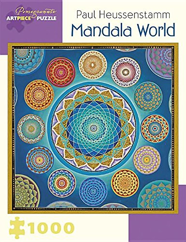 Paul Heussenstam: Mandala World 1000 Piece Puzzle Jigsaw Puzzle 25 x 25in