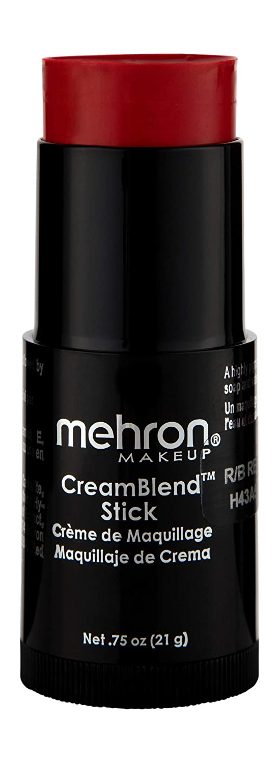 Mehron Makeup CreamBlend Stick (.75 oz) (REALLY BRIGHT RED)