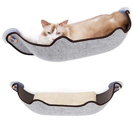 SelfLove Extraíble Cama para Gato montada en la Ventana Percha de Ventana Hamaca para Gatos Tumbona