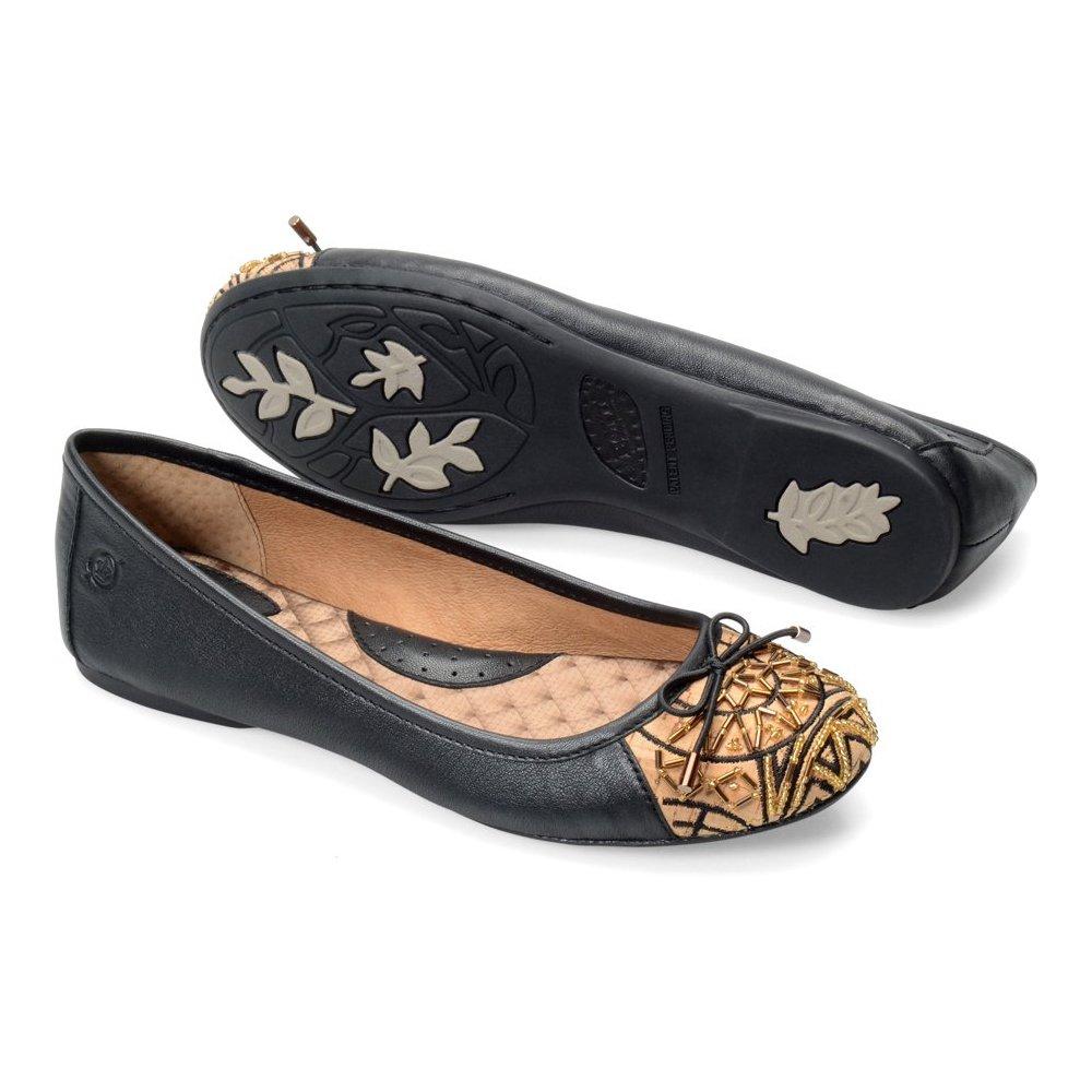 Born Women's Karmina 6 Ankle-High Leather Flat Shoe B00LB2STAO 6 Karmina B(M) US|Black 675295