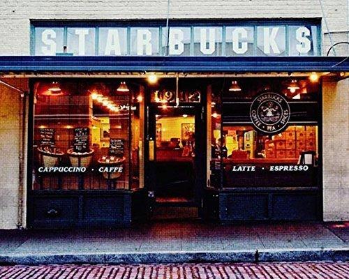 Seattle Photography Original Starbucks photo Urban Decor 5x7 inch - Shops Seattle Downtown