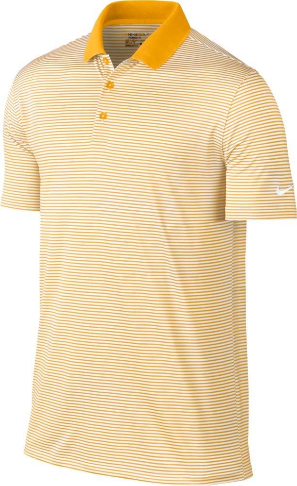 Nike Golf Victory Mini Stripe Polo (University Gold/White) (Small)