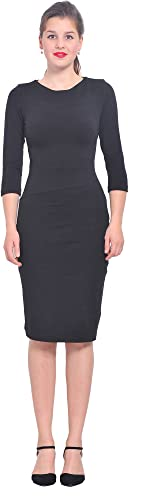 Marycrafts Womens Long Sleeve Work Office Pencil Casual Dresses