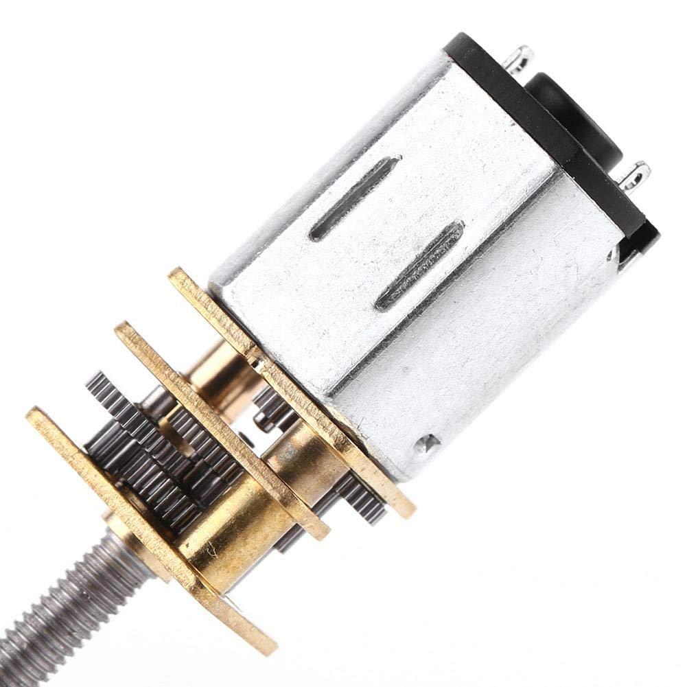 6V 150RPM 500RPM Motor de Engranaje de Reducci/ón de Velocidad DC 6v 30//60//100//150//200//300//300//400 55MM Eje de Salida con M3