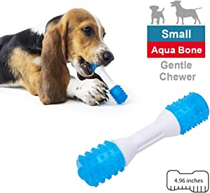 EETOYS Puppy Teething Toys Dog Chew Toys for Gentle Chewers Promotes Dental Health Reduces Teething Discomfort Boredom Freshen Breath Dog Toy Made W/Non-Toxic PU