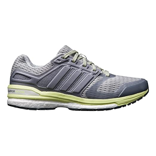 Adidas Supernova Sequence Boost 8 Shoes - Gray/Yellow - Womens - 6