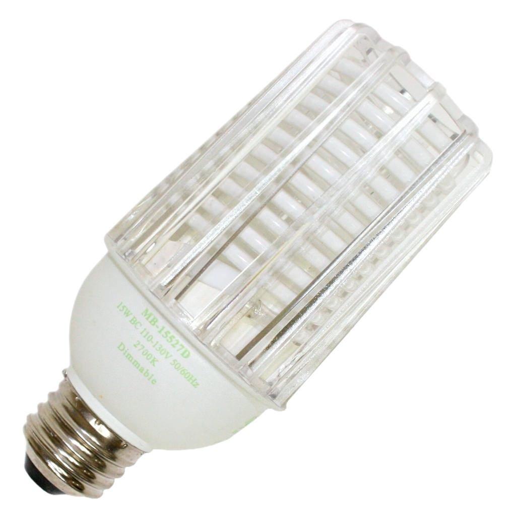 Litetronics 60770 MB 15527D 15W CCFL MED 120V CL 2700K Dimmable Compact Fluorescent Light Bulb